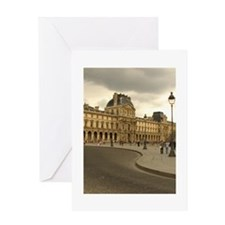 Cloudy Louvre Greeting Card