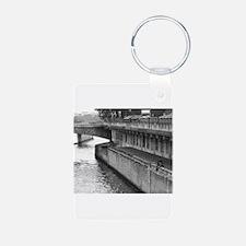 Riverside Picnic Aluminum Photo Keychain