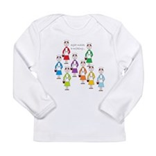 eight maids a-milking Long Sleeve Infant T-Shirt