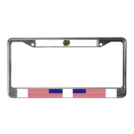 Cat face spider License Plate Frame