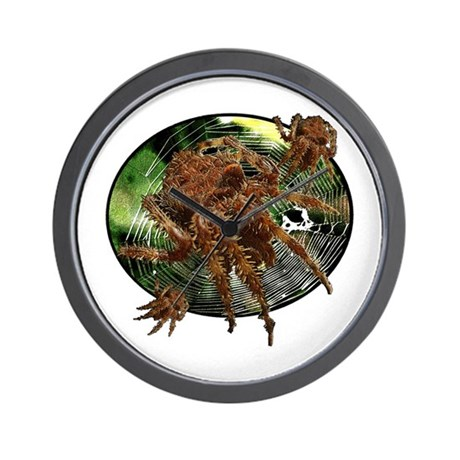 Cat face spider Wall Clock