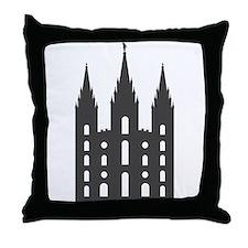 Salt Lake Temple Throw Pillow