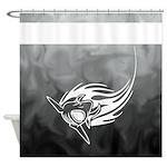 Shark Art Shower Curtain