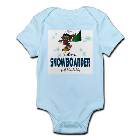 Future Snowboarder Like Daddy Baby Body Suit