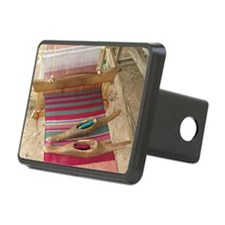 Various threads on weaving loom - Hitch Cover