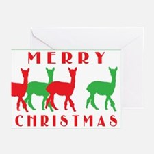 merry christmas alpacas border.png Greeting Cards