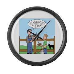 Don't Milk the Bull Large Wall Clock