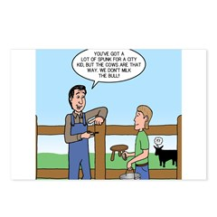 Don't Milk the Bull Postcards (Package of 8)