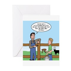 Don't Milk the Bull Greeting Cards (Pk of 10)
