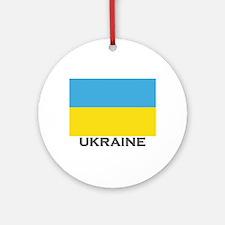 Ukraine Flag Stuff Ornament (Round)
