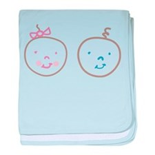 Two Cute Twins baby blanket