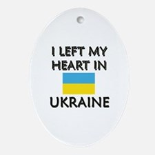 I Left My Heart In Ukraine Oval Ornament