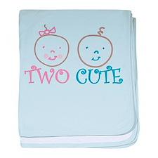 Two Cute baby blanket