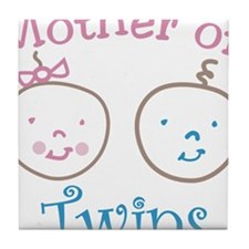 Mother Of Twins Tile Coaster