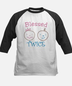 Blessed Twice Kids Baseball Jersey