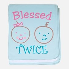 Blessed Twice baby blanket