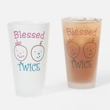 Blessed Twice Drinking Glass