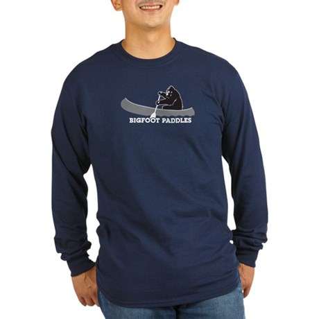 Bigfoot Paddles Long Sleeve Dark T-Shirt