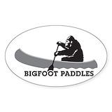 Bigfoot white Bumper Stickers