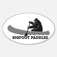 Bigfoot Paddles Sticker (Oval)