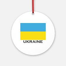Ukraine Flag Merchandise Ornament (Round)