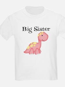 Big Sister Dinosaur Kids T-Shirt