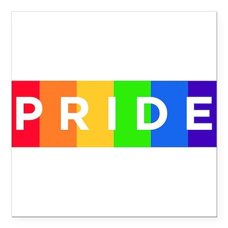 "Gay Pride Car Bumper Magnet Square Car Magnet 3"" x"