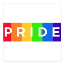 "Gay Pride Car Bumper Magnet Square Car Magnet 3"" x"