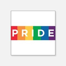 "Gay Pride Square Sticker 3"" x 3"""