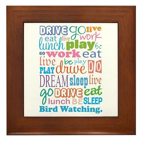 Bird Watching Framed Tile