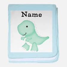 Personalizable T Rex Baby Blanket