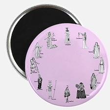 Shakespeare's Women Pink Magnet