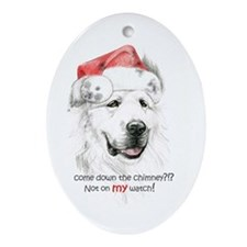 Great Pyrenees Holiday Ornament (Oval)