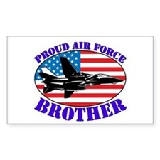 Proud Air Force Brother Rectangle Decal