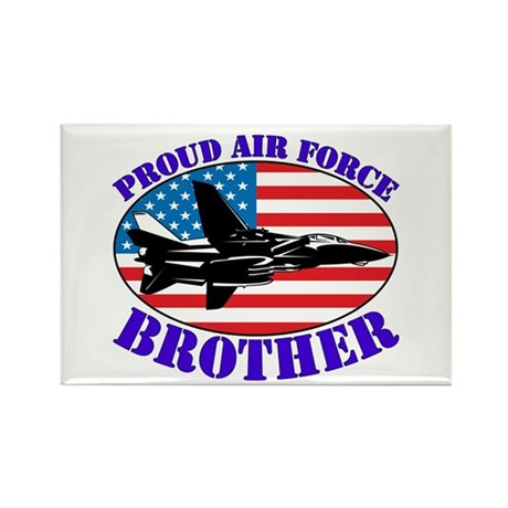Proud Air Force Brother Rectangle Magnet (100 pack