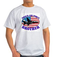 Proud Air Force Brother Ash Grey T-Shirt
