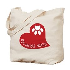 Loved By Dogs Tote Bag