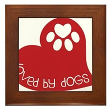 Loved By Dogs Framed Tile