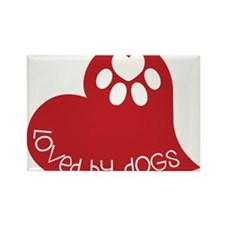Loved By Dogs Rectangle Magnet