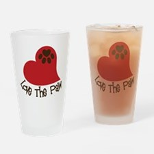 Love The Paw Drinking Glass