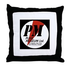Punk MUSEUM lOGO Throw Pillow