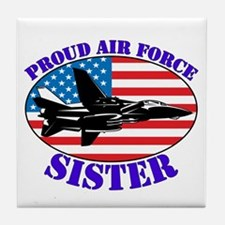 Proud Air Force Sister Tile Coaster