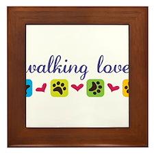Walking Love Framed Tile