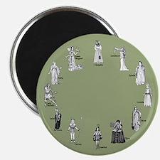 Shakespeare's Women Gray-Green Magnet