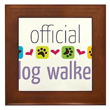 Official Dog Walker Framed Tile