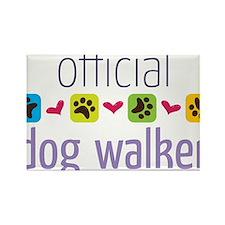 Official Dog Walker Rectangle Magnet