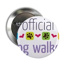 "Official Dog Walker 2.25"" Button"