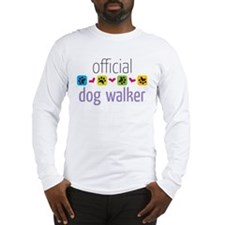 Official Dog Walker Long Sleeve T-Shirt