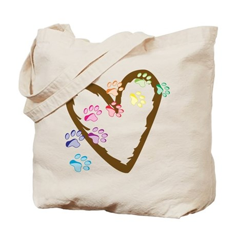 Paw Heart Tote Bag