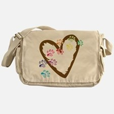 Paw Heart Messenger Bag